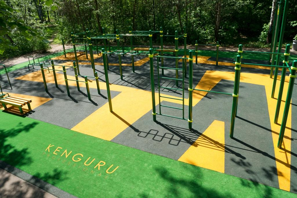 Outdoor workout parks