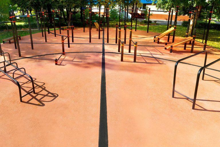 Calisthenics sport ground outdoor