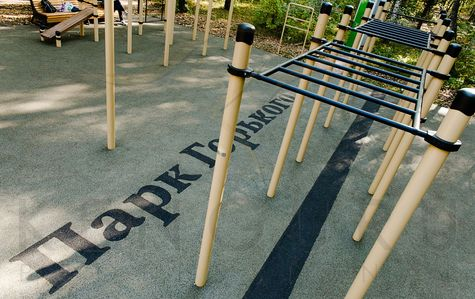 Outdoor workout training park by Kenguru Pro, Moscow