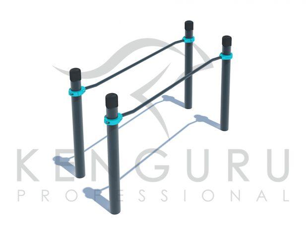 Image PARAKENGURU Curved parallel bars - Kenguru Pro