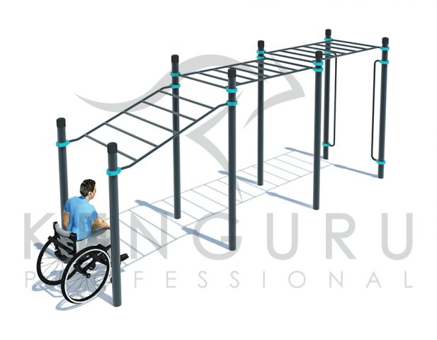Image PARAKENGURU Multi-level monkey bars - Kenguru Pro