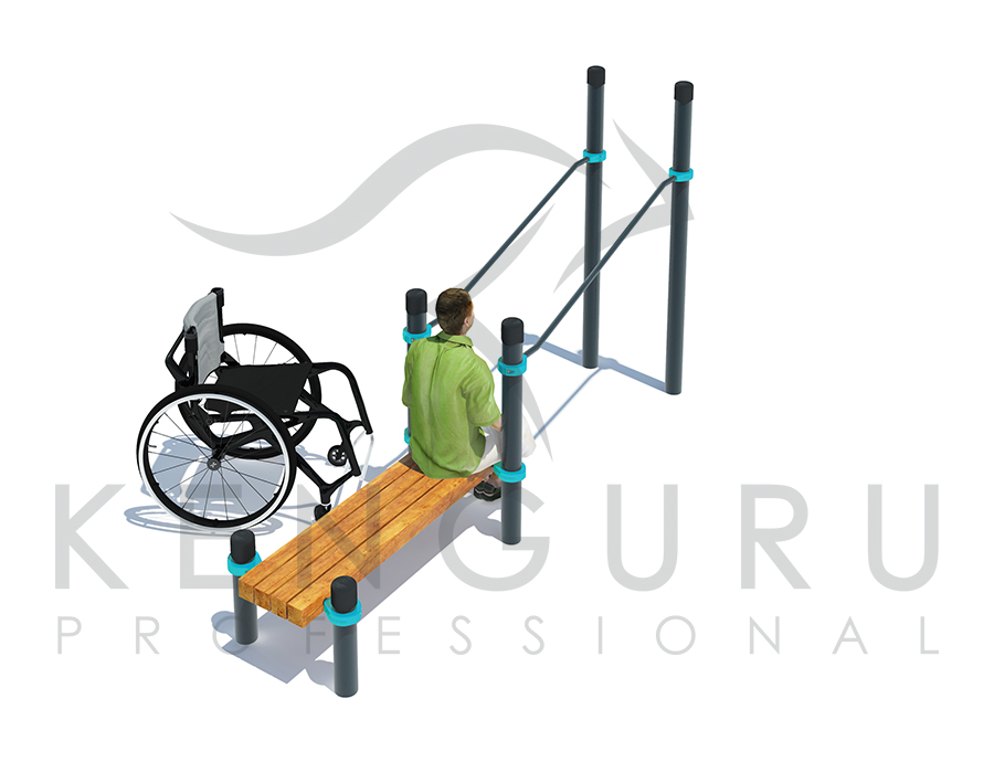 Image Inclined parallel bars with bench - Kenguru Pro